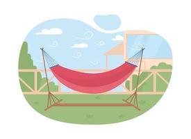 hammock 2d vector web banner