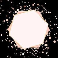 fundo estrela brilhante com moldura dourada vetor