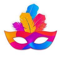 ícone de máscara de carnaval vetor