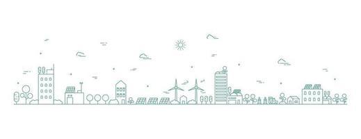 paisagem urbana linha arte ilustração paisagem urbana em monocromático linha arte estilo ilustração vetorial vetor