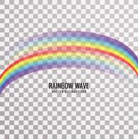 Fundo de onda moderna de arco-íris vetor