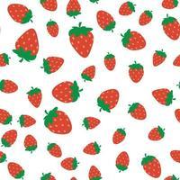 padrão de morango sem costura vetor