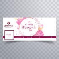 Capa do facebook do dia das mulheres com design floral vetor