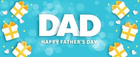 banner do dia dos pais em estilo de corte de papel vetor