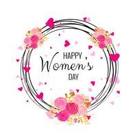 Vetor de fundo de cartão de dia das mulheres bonitas