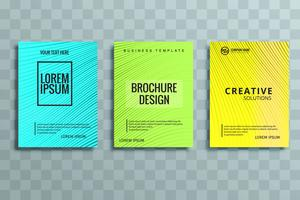 conjunto de brochura de negócios modernos vetor