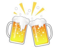 Ilustração em vetor torrada de cerveja isolada em um fundo branco