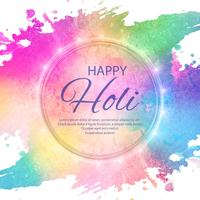 Feliz holi colorido festival fundo ilustração vector