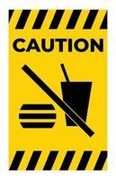 símbolo de não comer ou beber vetor