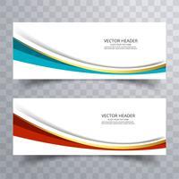 Design de banner do site com fundo de onda vetor