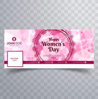 Dia das mulheres design da capa do facebook