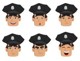 policial policial personagem de desenho animado vetor