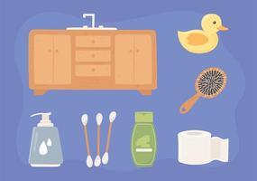 conjunto de ícones de higiene vetor
