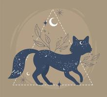 raposa astrologia esotérica vetor