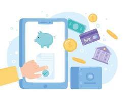 aplicativo de banco online vetor