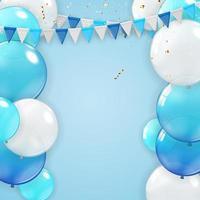 fundo de férias com balões vetor