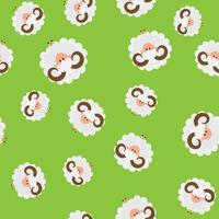 animal sem costura de fundo com ovelhas vetor