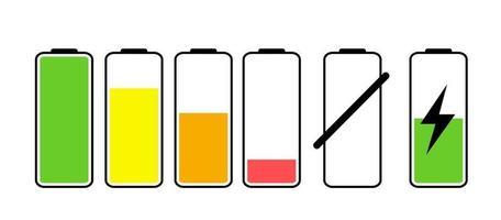 ícone de bateria isolado no branco vetor