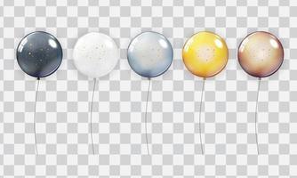 conjunto de coleta de balão realista vetor