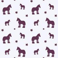 padrão sem emenda com silhueta de cavalo vetor
