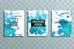 conjunto de brochura de negócios colorido moderno vetor