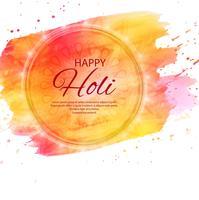 ilustração de fundo colorido feliz Holi para Festival de C vetor