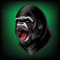 ilustração vetorial de cabeça de gorila vetor