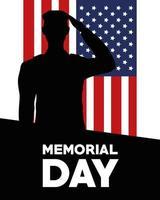 fuzileiro naval do dia do memorial vetor