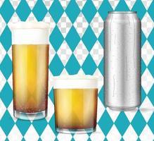 Conjunto de cerveja conceito oktoberfest moderno vetor