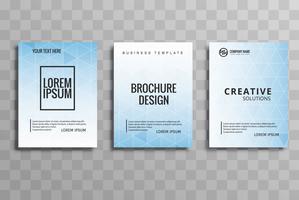 Conjunto de brochura empresarial moderno