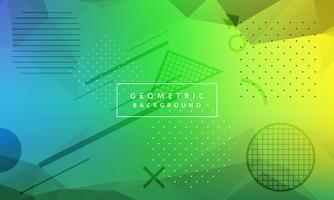 Vetor de fundo geométrico colorido abstrato
