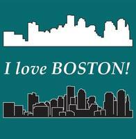 silhueta da cidade de Massachusetts vetor
