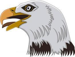cabeça de águia perfeita para projeto de design vetor