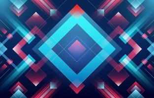 fundo abstrato brilhante dos quadrados azuis e vermelhos vetor