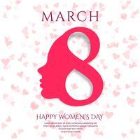 8 de março cartão de saudação. Fundo para o Dia Internacional da Mulher vetor