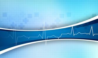Fundo médico abstrato com design de onda vetor