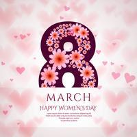 Cartaz do dia internacional da mulher. Projeto do origami de 8 números vetor
