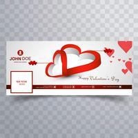 Dia dos Namorados Resumo facebook cover design ilustração vetor