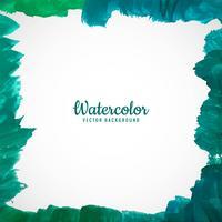 Quadro aquarela colorida abstrata com fundo de bordas suaves vetor