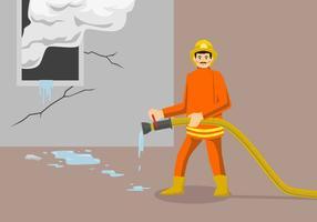 Ilustração em vetor de bombeiro
