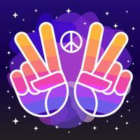 Paz e amor ilustração vetor