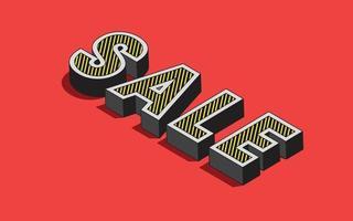 promoção de venda com desconto para ilustração vetorial online vetor