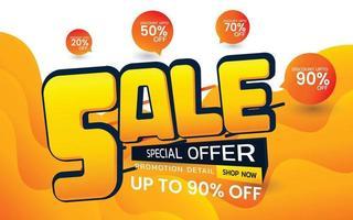 ilustração em vetor venda oferta especial