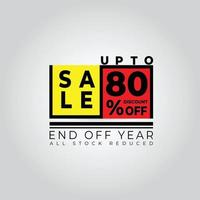 desconto de venda no final do ano vetor