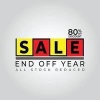 reduzir a venda de compras de fim de ano no final do ano vetor