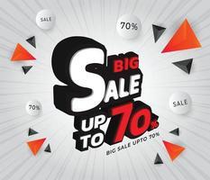 ilustração em vetor modelo grande venda até 70