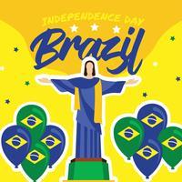Design de vetor do dia da independência do Brasil