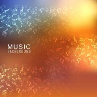Brilhante colorido musical com notas em fundo elegante vetor
