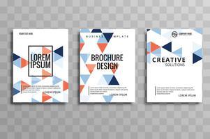 Folheto colorido geométrico criativo abstrato design illu do folheto