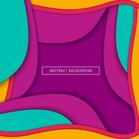 Papel colorido abstrato corte fundo de formas